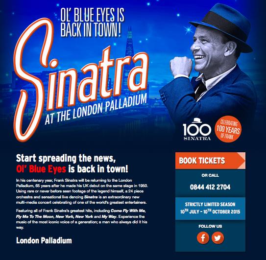 Sinatra: London Palladium 2015